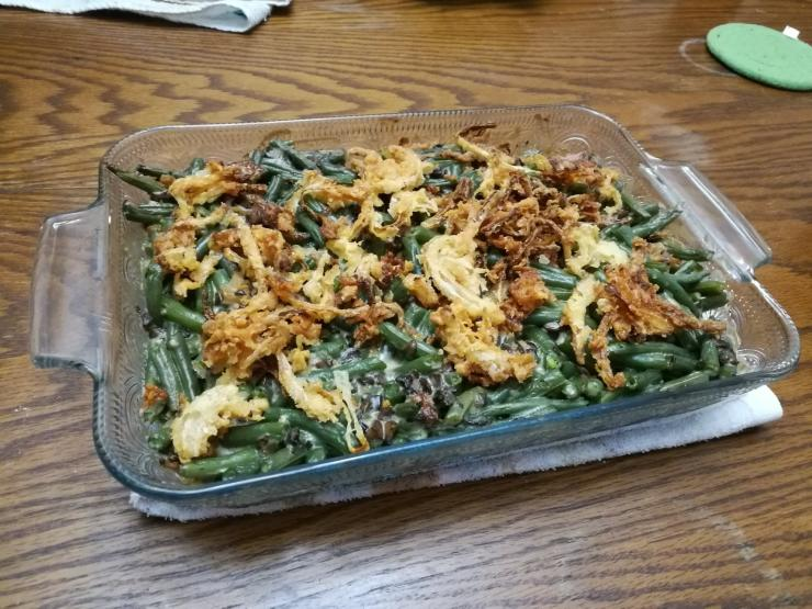 green bean final dish